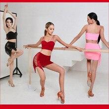 Latin  skirt  salsa dress Samba Dancing Costumes tango latin blouse  latin top pink black red  2103