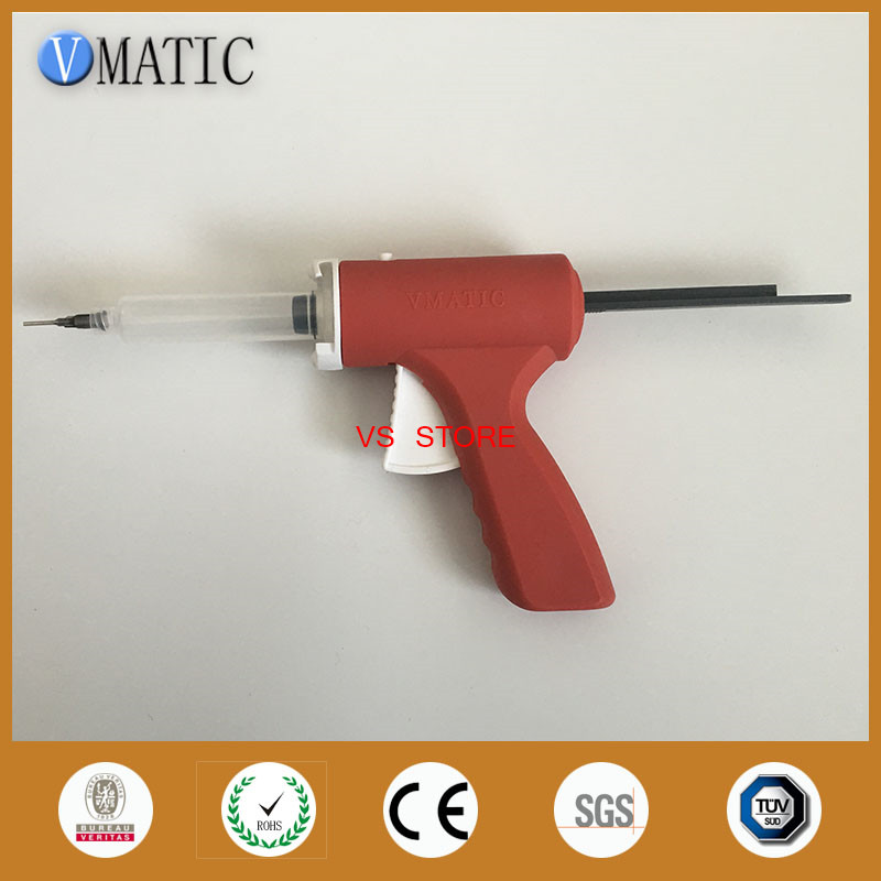Купить с кэшбэком Free Shipping New 10cc Manual Syringe Gun/ Epoxy Caulking Adhesive Gun Glue Gun/Dispense Gun With Needles & Syringe Barrel 10ml