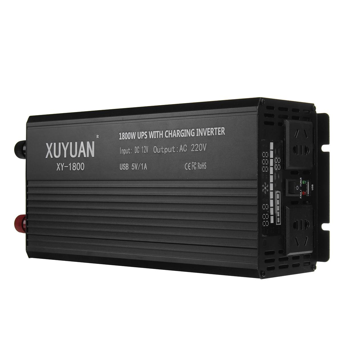 Inverter 12V 220V 3000/4000/5000W P eak UPS Modified Sine Wave LCD Display Grid 12V to 220V Solar Power Inverter for car truck