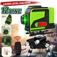 ZEAST 12 Line Laser Level Green Super Powerful 3D Self leveling 360 Degree Horizontal And Vertical Cross Construction Tools