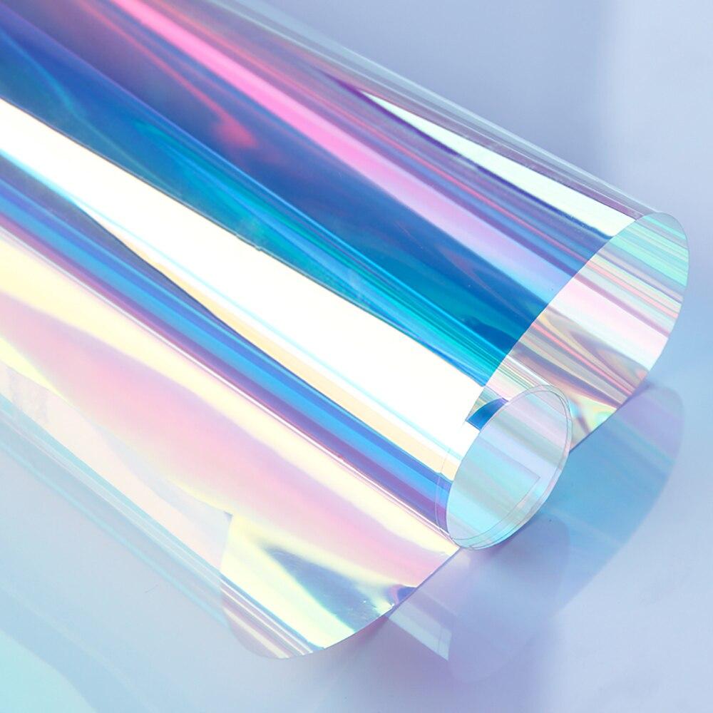 Original SUNICE 0.68x15m irisé fenêtre Film dichroïque arc en ciel effet autocollant décalcomanie Film pour Festival décoration noël