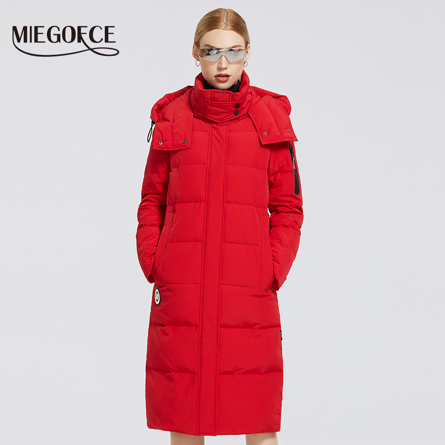 MIEGOFCE 2020 Winter Long Women's Cotton Coat H Version of Simple and Fashionable Women Parkas Windproof Jacket Overcome Coat|Parkas| - AliExpress