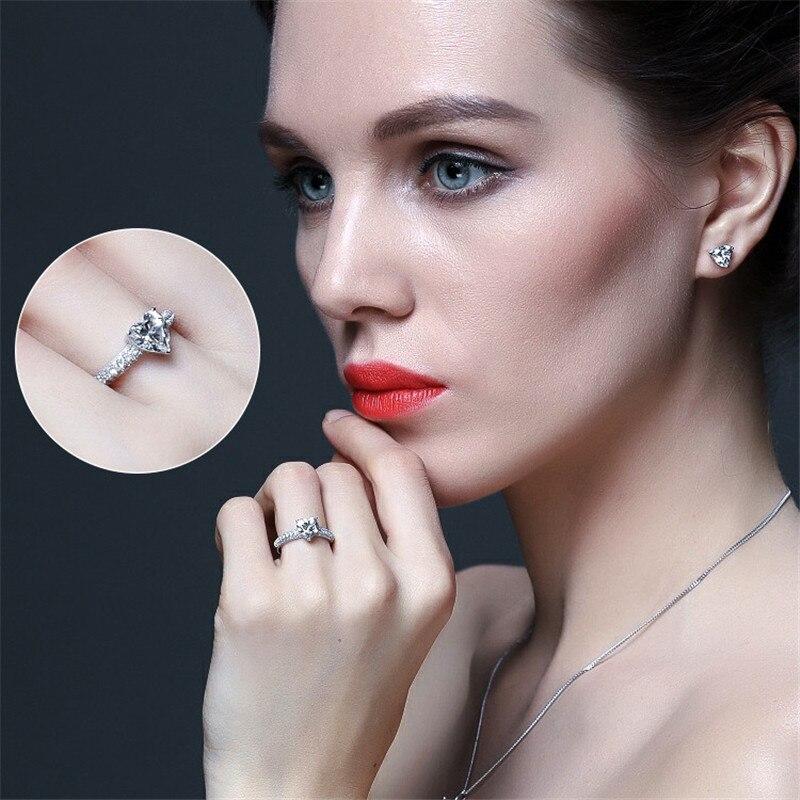 Heart Rings For Women Bridal Wedding Fashion Jewelry Engagement Ring Cubic Zirconia Elegant Anel Bijoux Femme CC048 6