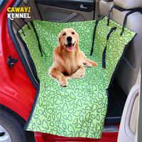 Cawayi canil pet portadores cão assento do carro capa de transporte para cães gatos esteira cobertor traseiro volta proteção rede transportin perro