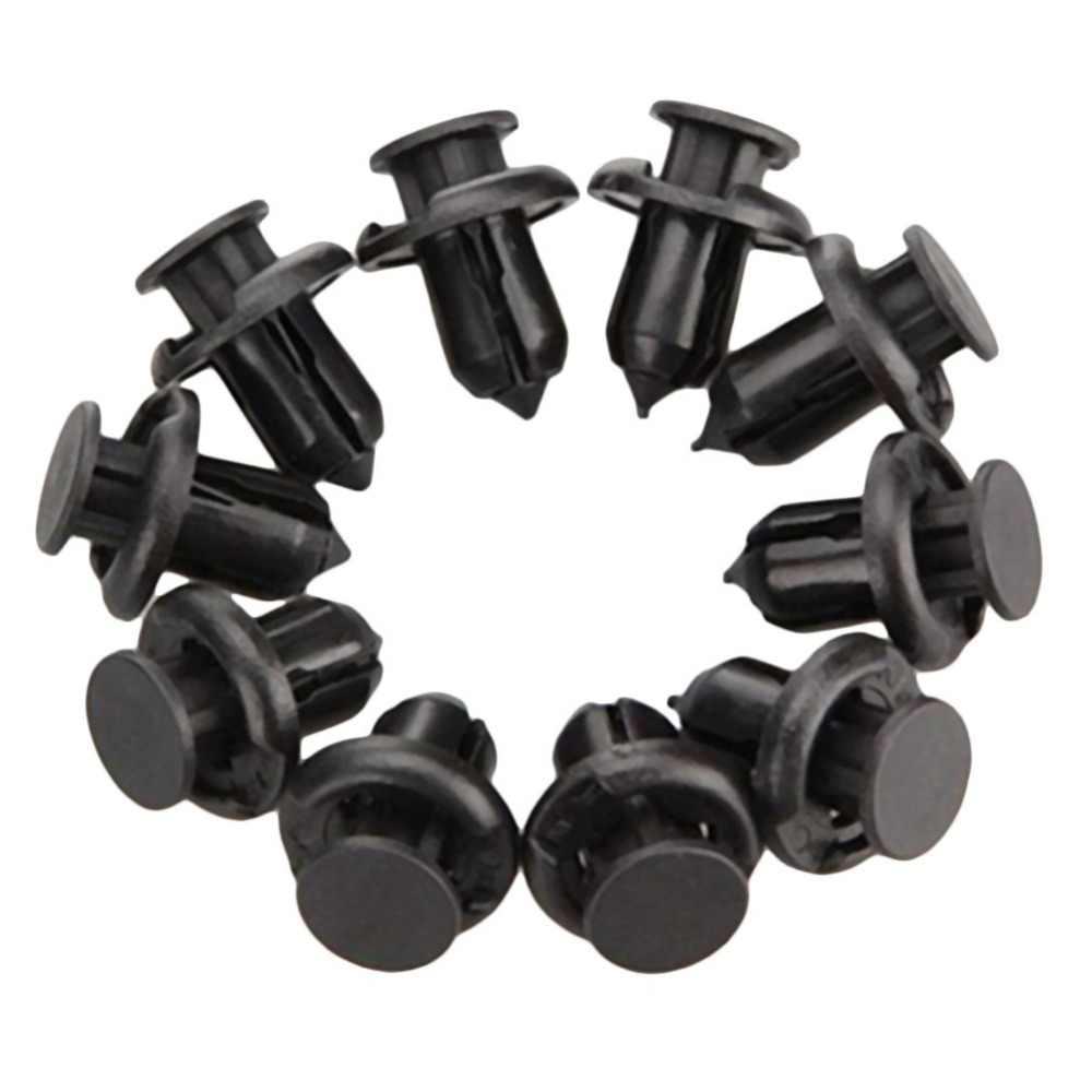 10 個パック黒洞察フロントバンパーロックフック & クリップファスナープッシュラッチリベットトリムリベットホンダアコード
