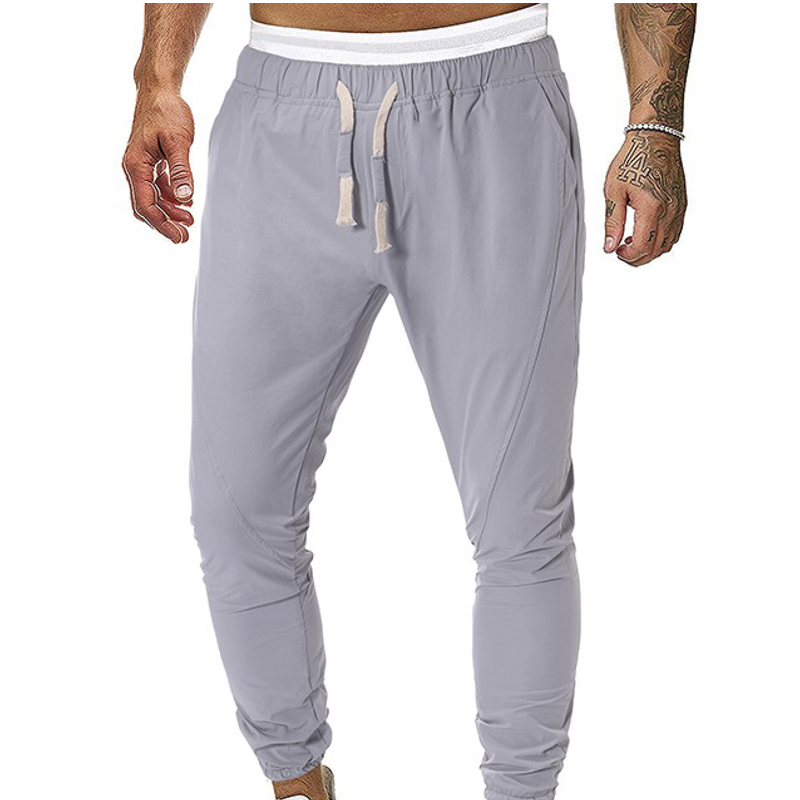 2019 New Men's Yoga Sweatpants Solid Color Pocket Gym Jogger Trousers Autumn Casual Homme Pants Long Loose Sporting Fitness Pant