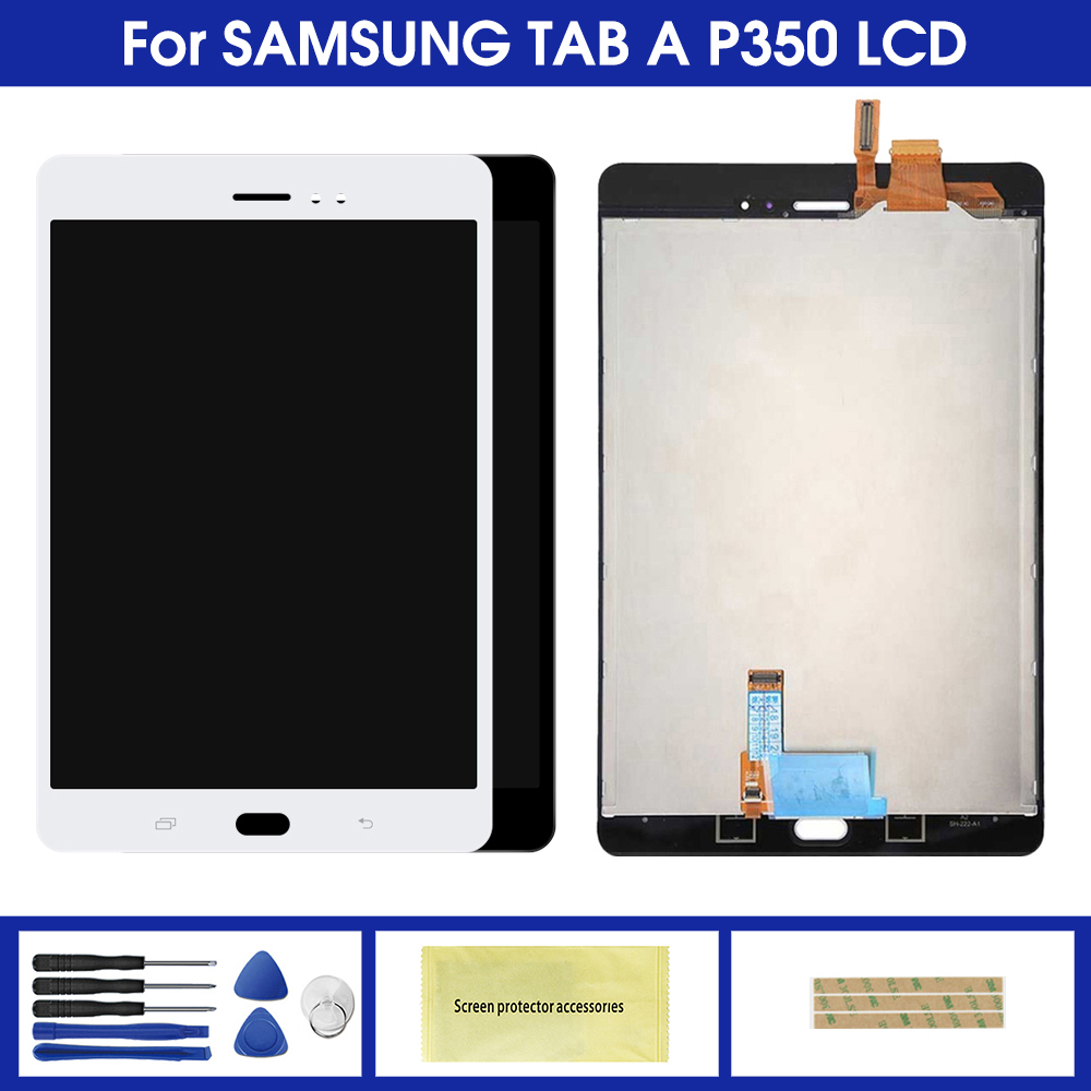 For Samsung Galaxy Tab A SM-P350 P350 SM-P355 P355 LCD Display Touch Screen Digitizer Full Assembly Replacement Parts