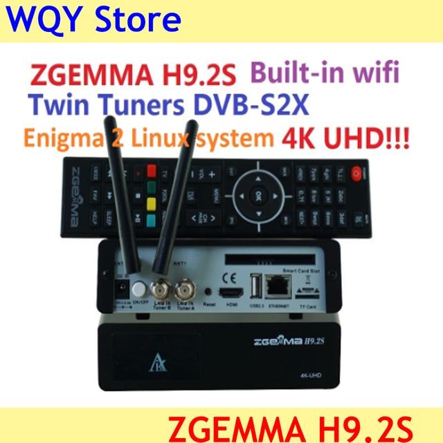Yeni sürüm ZGEMMA H9.2S Linux OS Enigma2 dijital 4K UHD DVB S2 alıcısı 2000 DMIP e n e n e n e n e n e n e n e n e n e tuner uydu TV alıcı dekoder