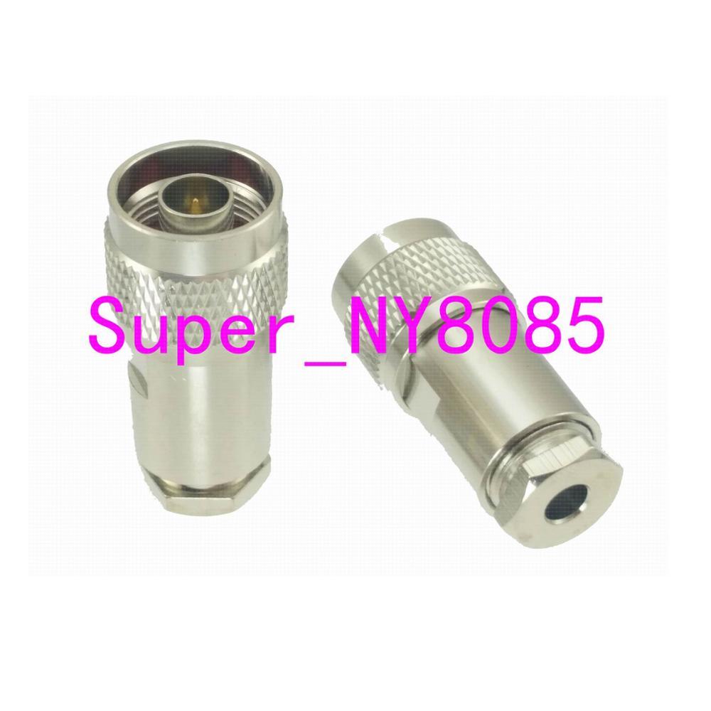 1pce conector n macho plugue braçadeira rg58 rg142 lmr195 rg400 cabo em linha reta