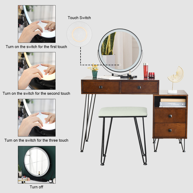 Retro Dressing Table & Stool 4