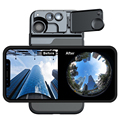 Для iphone 11 pro линзы 5 в 1 объектив для телефона 2X телеобъектив рыбий глаз 10X 20X макро объектив чехол для телефона для iphone 11 pro линзы