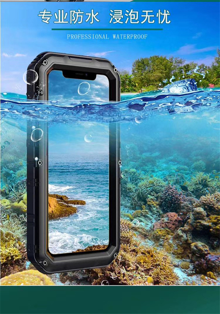 360 Heavy Duty Metal Armor Protection Case IP68 Waterproof Shockproof Cover for iPhone 11 Pro X Xs Max XR 6 6s 7 8 Plus SE 2020 4