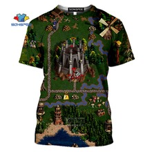 New Fashion Game Heroes of Might & Magic 3D Print Man's T- shirt