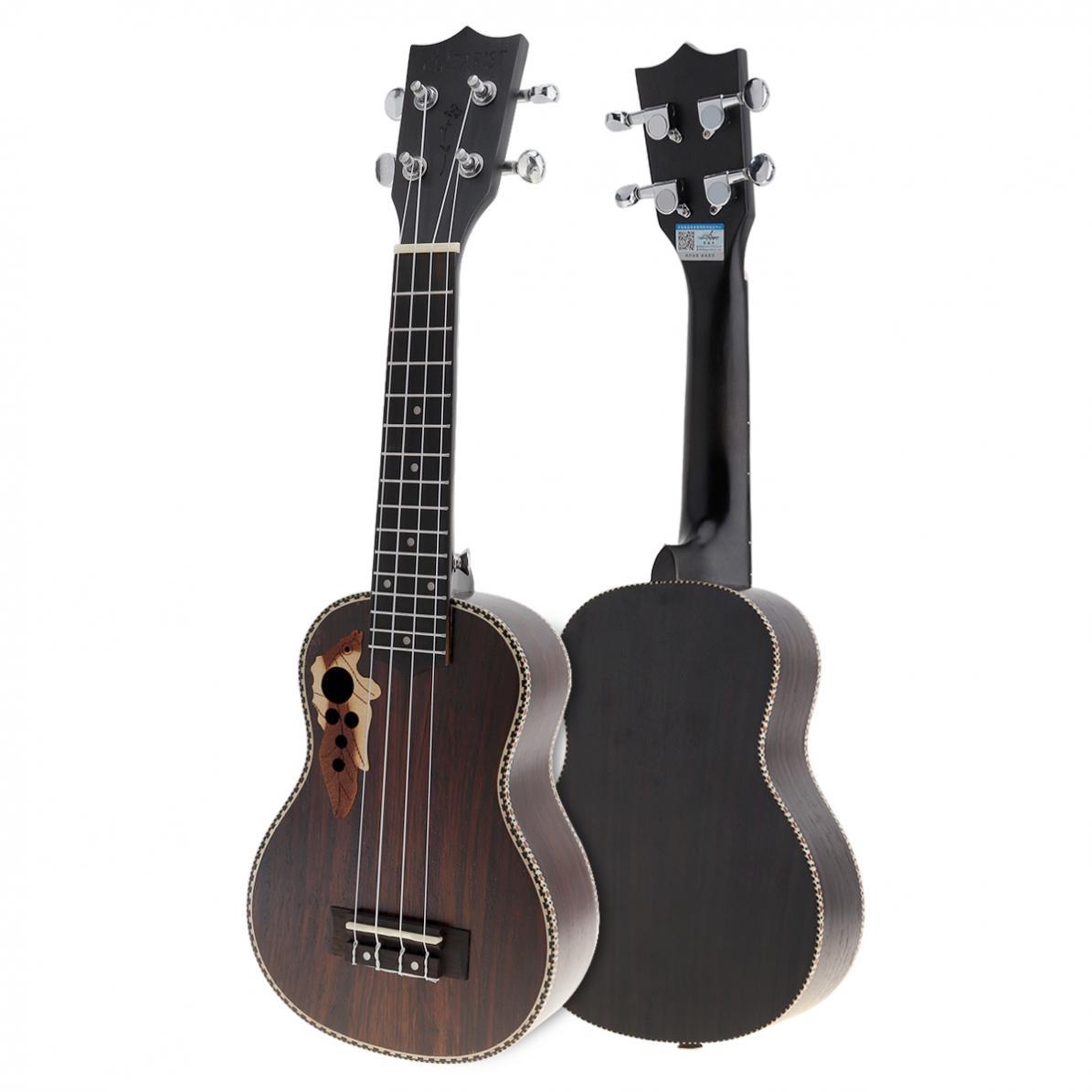21 pouces Soprano plein bois de rose acoustique ukulélé Uke 4 cordes hawaï guitare guitare Guitarra Instrument avec chaîne italienne AQ