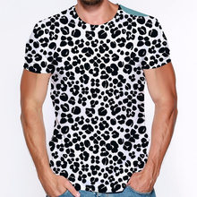 Coolstyle leopard 3d print t shirt men women funny animal short