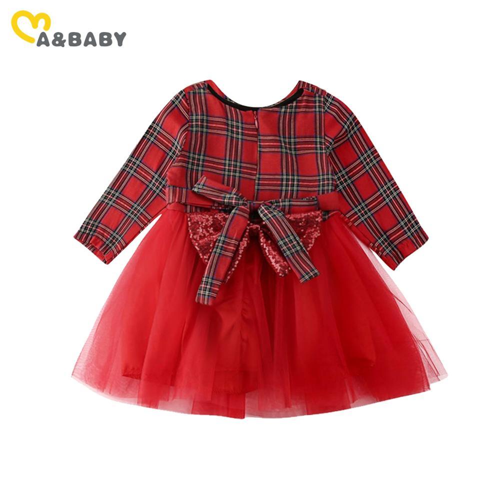 Christmas Toddler Baby Girl Puff Sleeve Bow Dress Wedding Party Princess Dress