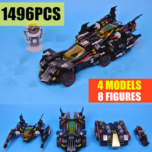 New Super Heroes Batman Movie Ultimate Batmobile Fit Legoings Technic Figures Model Building Blocks Bricks Toys for Children Kid dhl lepin ninja figures 1501pcs 06058 temple of the ultimate weapon model building kits blocks educational bricks kid toys 70617