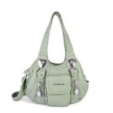 Angel Barcelo Women handbag soft roomy multiple pockets street ladies shoulder bag AK16479