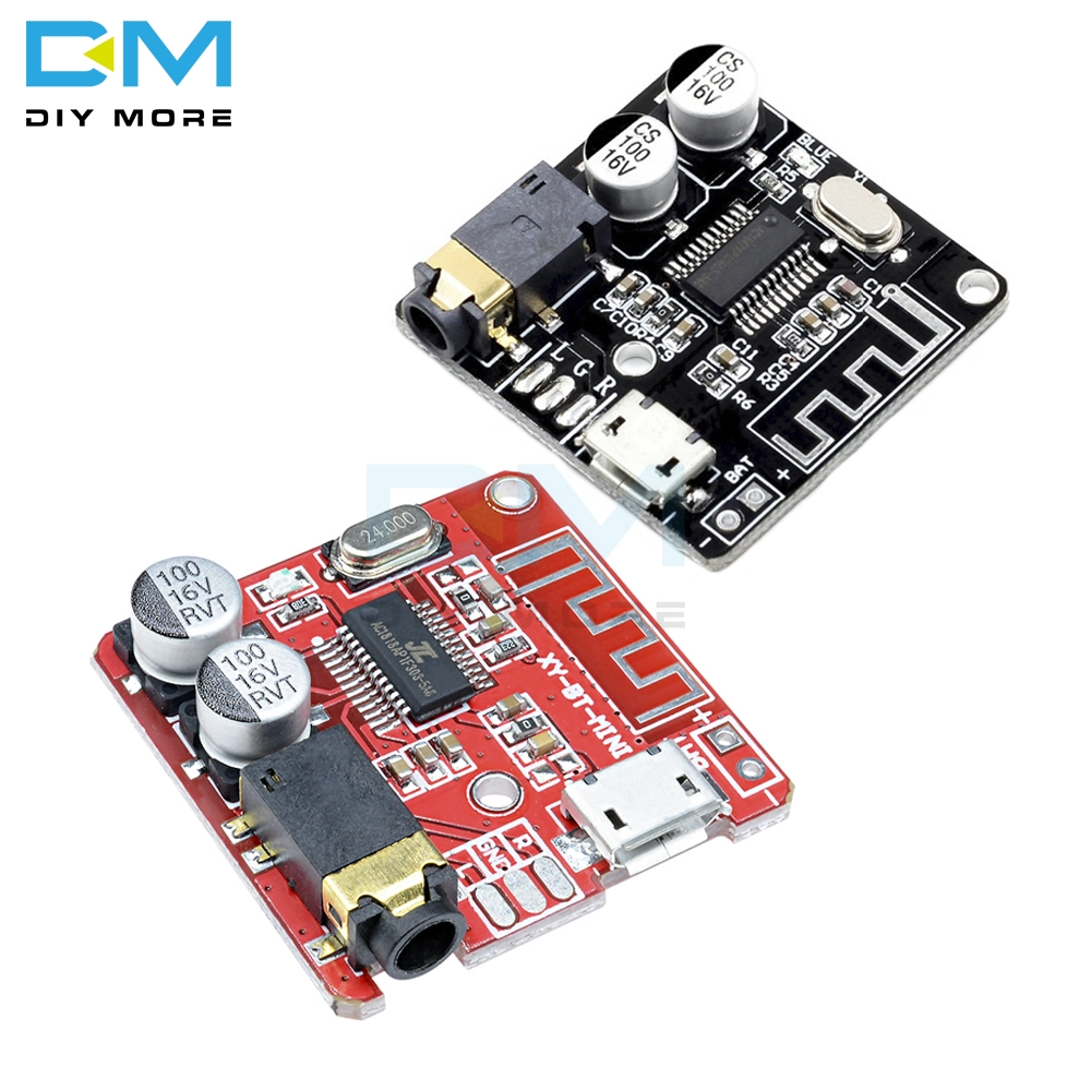 Mini MP3 Bluetooth 4.1/5.0 Lossless Decoder Stereo Output Board Car Speaker Amplifier Module Circuit Board 3.7V 5V Micro Usb
