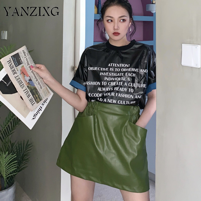 2019 Autumn And Winter New Products Fashion Green High Waist A Word Bag Hip Short Section Half Body Skirt Female L863