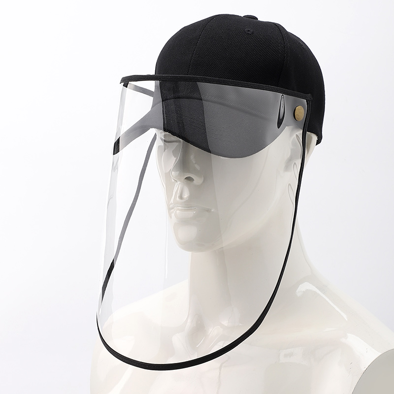 A172 Adult Anti-droplet PVC Covers Face Mask Hat L Protective PVC Cover Face Mask Hat  Protective Cover Hats Removable