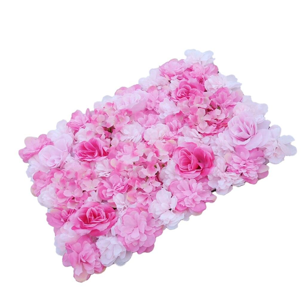 20stk Kunstblume Wandpaneel hängen Veranstaltungsort Party Dekor rosa