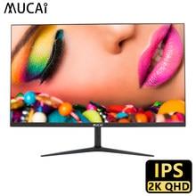 Mucai 24/27 Polegada 2k monitor 75hz desktop pc display lcd gaming tela de painel plano computador led 2560*1440 hdmi/dp