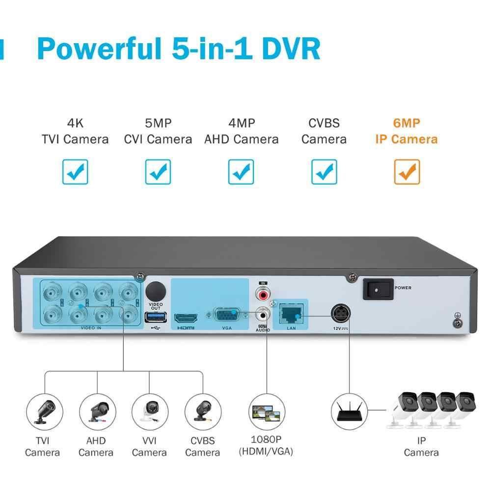 ANNKE 4K HD Ultra przejrzysty materiał 8CH System bezpieczeństwa CCTV 5w1 DVR z 4X 8MP zewnętrzna kamera monitorująca wideo odporna na warunki atmosferyczne
