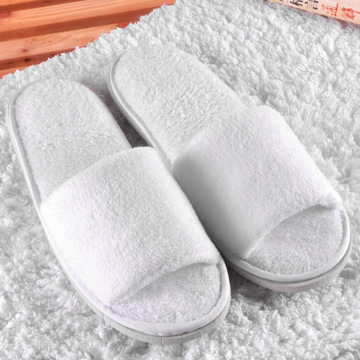 High Quality New Simple Unisex Slippers Hotel Travel Spa Portable Slippers Disposable Home Guest Indoor Cotton Fabric Slipper