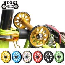 MUQZI 2 sztuk stopu aluminium składany rower Easywheel CNC Ultralight 64mm M6 rower łatwe koła dla Brompton akcesoria rowerowe