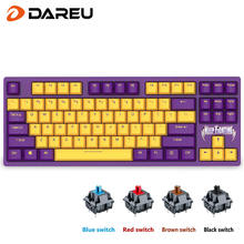 Проводная Механическая игровая клавиатура dareu a87 cherry mx