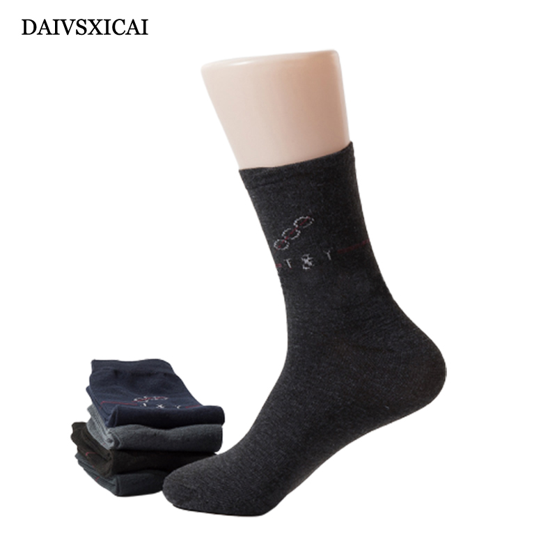 5Pairs/lot=10pieces Spring Autumn Fashion Socks Business Male Casual Long Tube Breathable Mens Cotton Socks 5 Colors