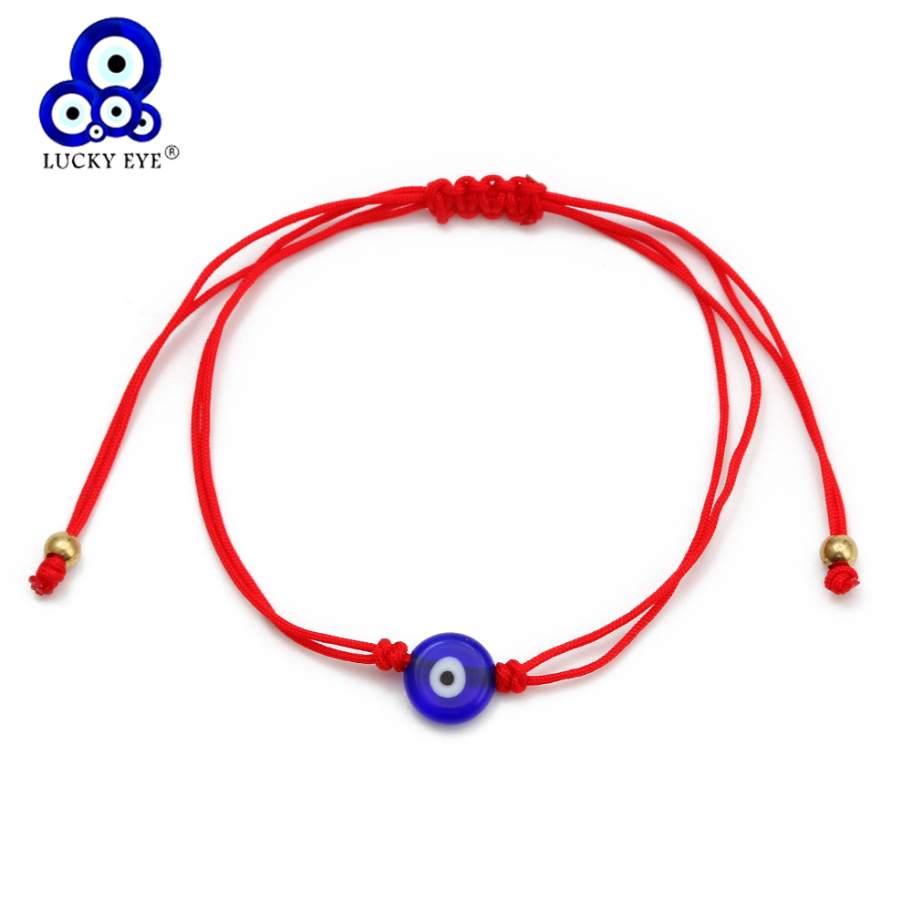 Evil Eye Bracelet Red Black Rope Chain
