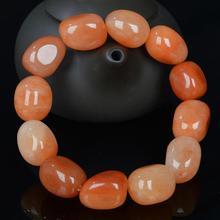 Gold jade natural  bracelet Gobi color mens big