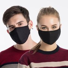 Unisex Cotton Washable Mouth Mask Activated Carbon Dustproof PM2.5
