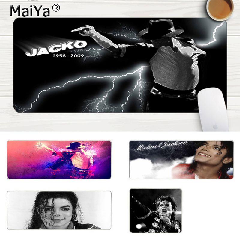 MaiYa Cool nuevo Michael Jackson Gamer ratón de velocidad venta al por menor pequeño alfombrilla de goma portátil para juegos Lockedge ratón alfombrilla