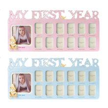 Handmade DIY Baby 12 Months Growth Record Commemorate Kids Growing Memory Gift Display Photo Frame