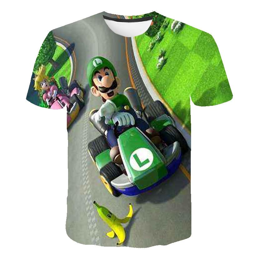 Детская футболка с 3D рисунком, забавная уличная одежда в стиле хип-хоп для мальчиков и девочек, классические игры в стиле Харадзюку