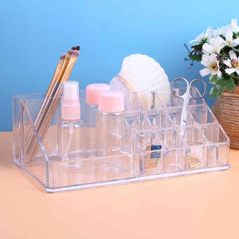 Draagbare Clear Acrylic Make Organizer Opbergdoos Cosmetica Opslag Case