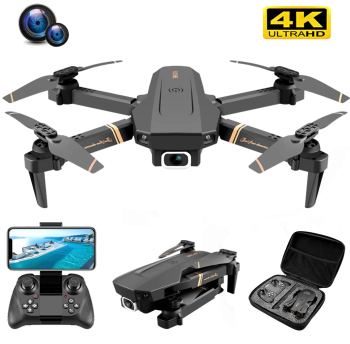 f6 drone 4k 1080p hd wifi quadcopter servo camera remote control adjustable angle drone camera dron reserve height rc helicopter V4 RC Drone 4k HD Wide Angle Camera 1080P WiFi Fpv Drone Dual Camera Foldable Quadcopter Real-time Transmission Helicopter Toy