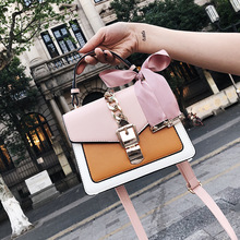 Bag Female 2017 New Fashion Color Silk Scarf Small Square Handbag Shoulder Messenger Super Fire