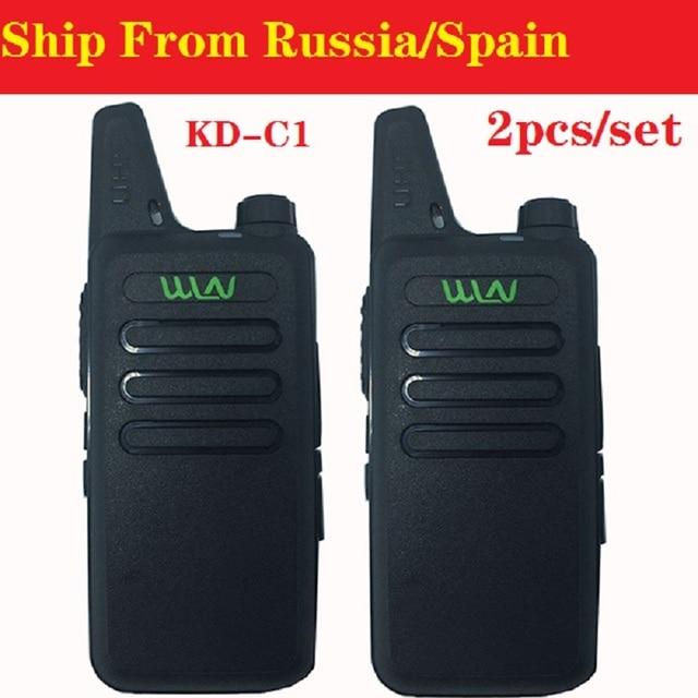 2PCS Portable Radio WLN KD C1 Mini Wiress Walkie Talkie UHF Handheld Two Way CB Radio Communicator рация