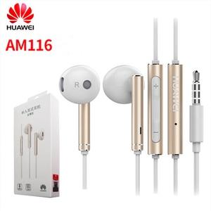Original Huawei Earphone am116 Honor AM115 Headset Mic 3.5mm for HUAWEI P7 P8 P9 Lite P10 Plus Honor 5X 6X Mate 7 8 9 smartphone