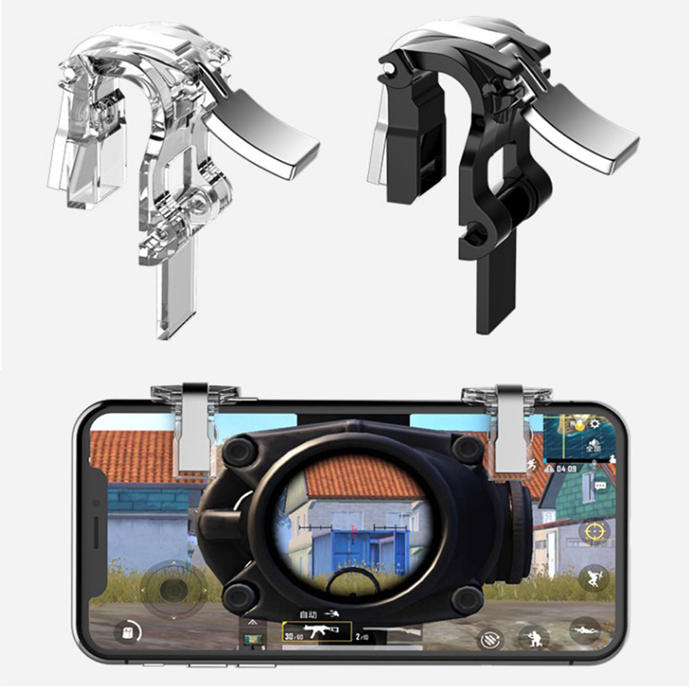 L1 R1 PUBG Mobile Trigger Controller For iPhone Android L1R1 Shoot Fire Button Game Joystick Gamepad Aim Key Smartphone Phone(China)