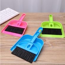 Keyboard-Brush Sweep-Cleaning-Brush Broom-Set Dustpan Sweep-Two-Piece-Set Desktop Mini