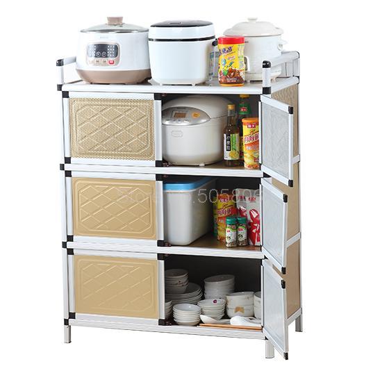 Kitchen Cupboard Stainless Steel Multi Function Storage Cabinet Stove Cabinet Storage Cabinet Microwave Cabinet Aliexpress