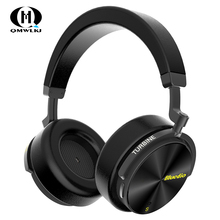 T5S Active Noise Cancelling Wireless Bluetooth Headphones Portable Headset with microphone for cell phones philips shp9500 professional headphones with active noise cancelling 3 meter long headset for xiaomi mp3 official test