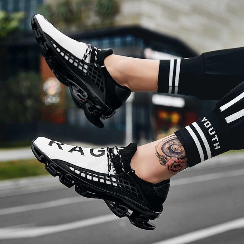 2019 新カジュアルメンズシューズ夏メッシュ通気性の靴男性 Comfortale ファッションスニーカービッグサイズ 13 47 黒、白