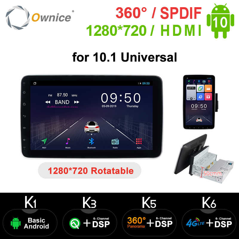 Ownice k3 k5 k6 Drehbare 1280*720 Android 9,0 Auto Radio 1/2 Din Stereo Empfänger GPS 4G DSP 360 Panorama Optische Universal Player