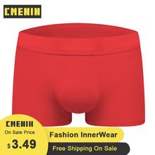 Seksowna bielizna męska bokserki Cueca męskie majtki modalne modne męskie kalesony czerwone oddychające bokserki męskie kalesony CM100 tanie tanio CMENIN Stałe spandex